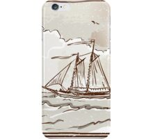 Vintage View of Sailing Ships on the Sea iPhone Case/Skin