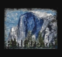 Rock Climbing Yosemite Half Dome Abstract Kids Clothes