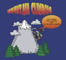 Funny Rock Climbing Cartoon by SportsT-Shirts