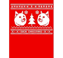 DOGE UGLY CHRISTMAS SWEATER PATTERN Photographic Print