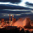 Grangemouth Refinery by Maria Gaellman