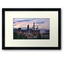 Grangemouth Refinery at Sunset Framed Print