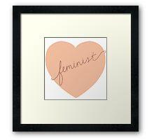 Feminist Heart Framed Print