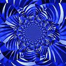 Blue Zebra Striped Flower by George Hunter