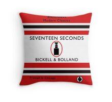 Seventeen Seconds Book Cover Throw Pillow