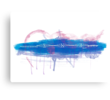 Forth Rail Bridge - Single Line Canvas Print
