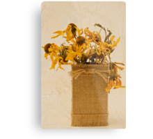 Gloriosa Daisy Flowers Withered Metal Print