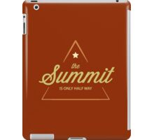Rock Climbing The Summit Is Only Half Way iPad Case/Skin