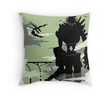 Silhouette of the Colossus Throw Pillow