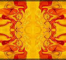 Energy Bodies Abstract Healing Artwork  by owfotografik