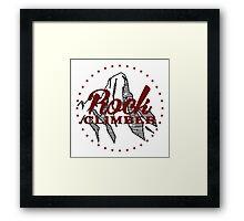 Rock Climber Framed Print