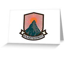 Rock Climbing Enlightenment Greeting Card