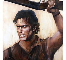 Bruce Campbell V.S Army of Darkness Photographic Print