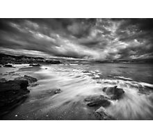Eco Beach Stormclouds Photographic Print