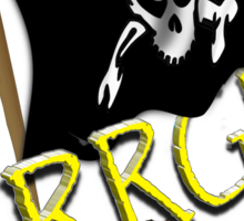 Pirate Flag with Treasure Chest - ARRGH!  Sticker