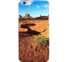 Monuments in Scrub, Sand and Rock - Monument Valley, Utah, USA iPhone Case/Skin