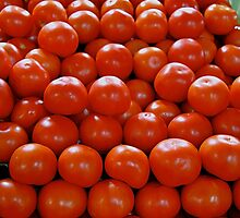 Ripe tomatoes by Maggie Hegarty