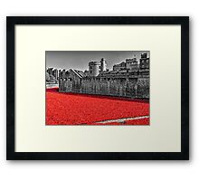 Sea Of Red Framed Print