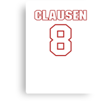 NFL Player Jimmy Clausen eight 8 Canvas Print