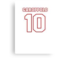 NFL Player Jimmy Garoppolo ten 10 Canvas Print