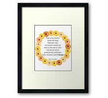 Deep in the Meadow Framed Print