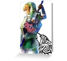 Zelda Link with Wolf Greeting Card