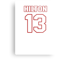 NFL Player T.Y. Hilton thirteen 13 Metal Print
