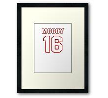 NFL Player Colt McCoy sixteen 16 Framed Print