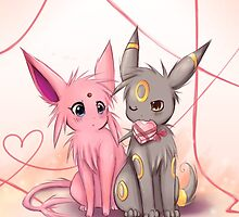 Valentines :: Espeon Umbreon by sunshineikimaru