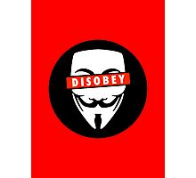 Disobey Censorship Circle Photographic Print