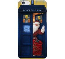 Public Police Call Box Santa Claus Christmas iPhone Case/Skin