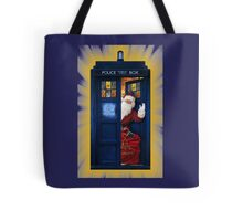 Public Police Call Box Santa Claus Christmas Tote Bag