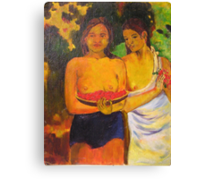 Gauguin's, Two Tahitian Women Canvas Print