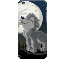 Little Wolf Howling iPhone Case/Skin