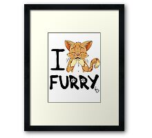I ñawr FURRY Framed Print
