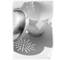 tea cup & strainer Poster