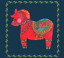 The Red Dala Horse by haidishabrina