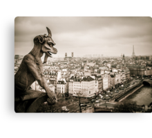 Gargoyles of Notre-Dame Canvas Print