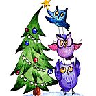 Christmas Owls by Redilion