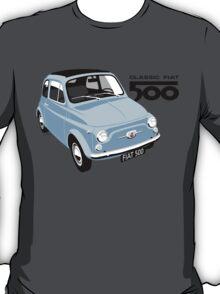 Classic Fiat 500 light blue T-Shirt