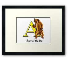 Right of the line Framed Print