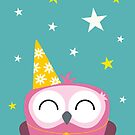 Party Owl by Lisa Marie Robinson