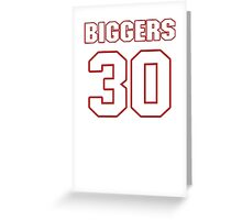 NFL Player E.J. Biggers thirty 30 Greeting Card