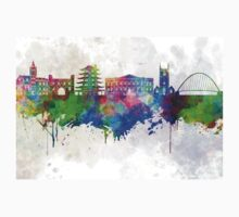 Reading skyline in watercolor background Kids Clothes