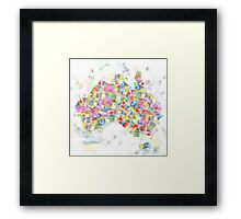 Money Map Australia Watercolour Framed Print