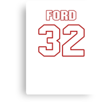 NFL Player Michael Ford thirtytwo 32 Canvas Print