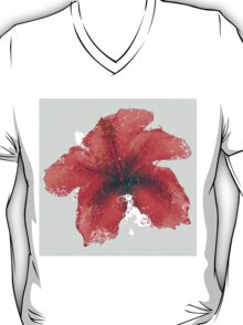 Watercolor red hibiscus T-Shirt