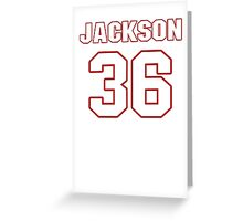 NFL Player Tanard Jackson thirtysix 36 Greeting Card