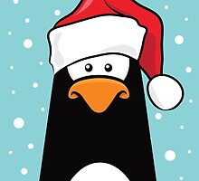 Christmas Pensive Penguin by Lisa Marie Robinson