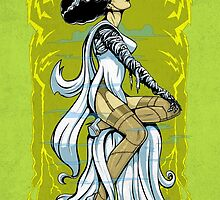 Bride of Frankenstein Pinup by Joey Gates